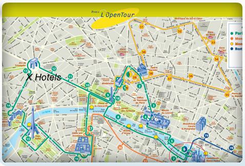 Lopen Tour Paris Map.Concierge Paris Hotel Raphael Villa Majestic L Open Tour Hop